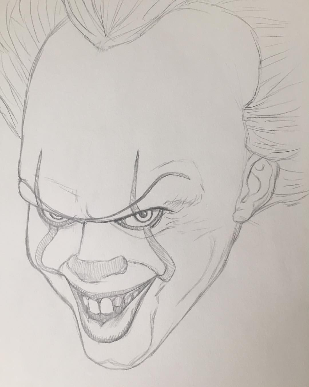 How To Draw A Scary Clown By Dawn With Images Cool Cartoon