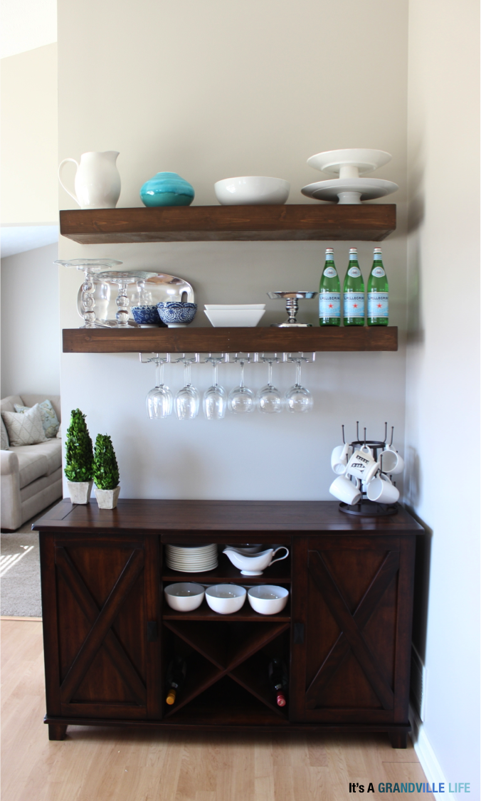 Pretty Preppy Party March Features Wine Rack Shelves