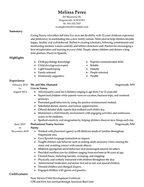 Personal Services Resume Examples Personal Services Sample Resume Examples Sample Resume Cover Letter Functional Resume Samples