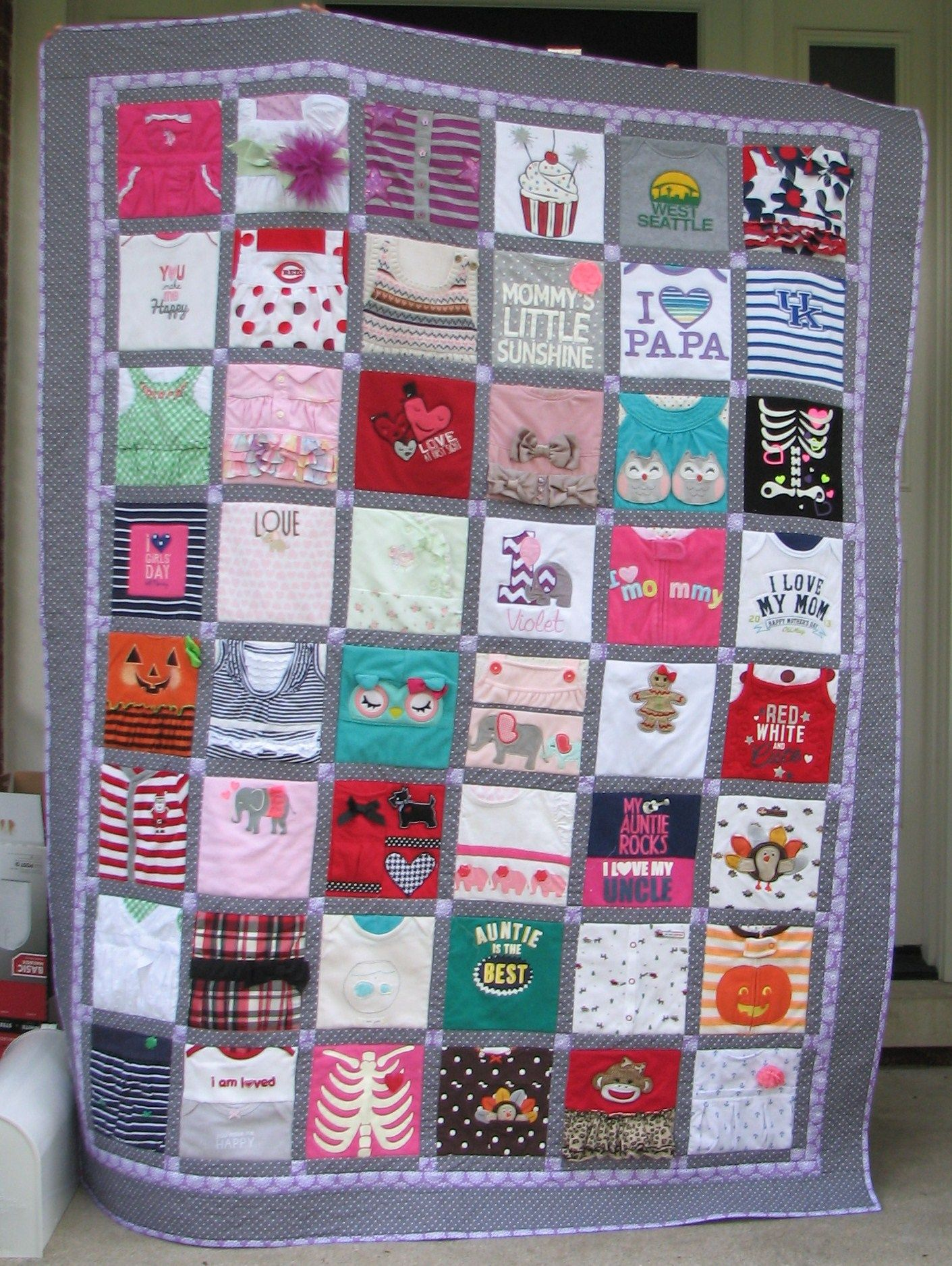 baby clothes quilt - Google Search | quilting 16 | Pinterest ... : custom baby clothes quilt - Adamdwight.com