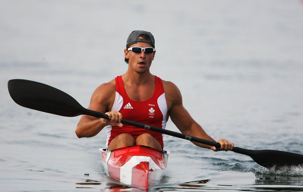 Adam Van Koeverden Of Canada Looks On After The Kayak Single K1 1000m Mens Heat At Shunyi Olympic Rowing Canoeing Park Day 10 Beijing 2008