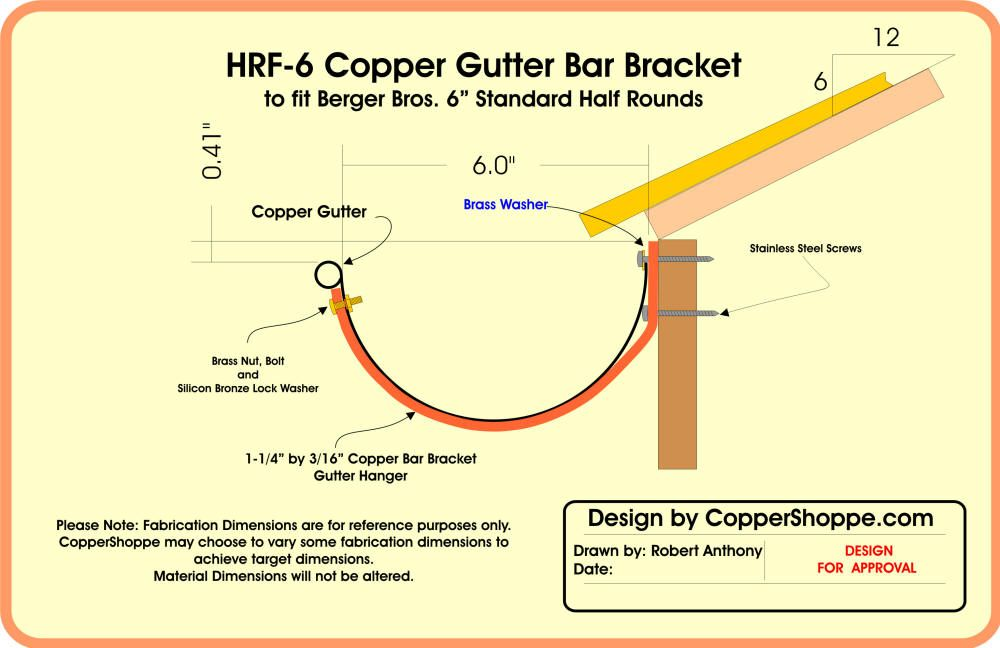 Copper Gutters - Price List and Request Quote Form Copper Gutter Brackets