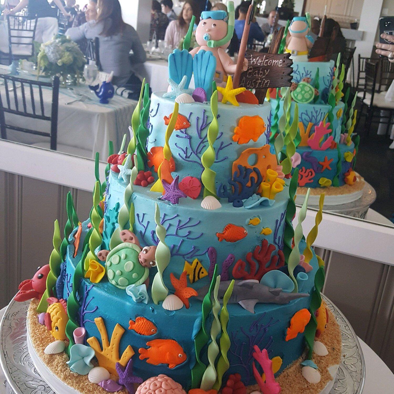 Fondant Scuba Diver Baby Under The Sea Kit Shark Edible Sugar Cake