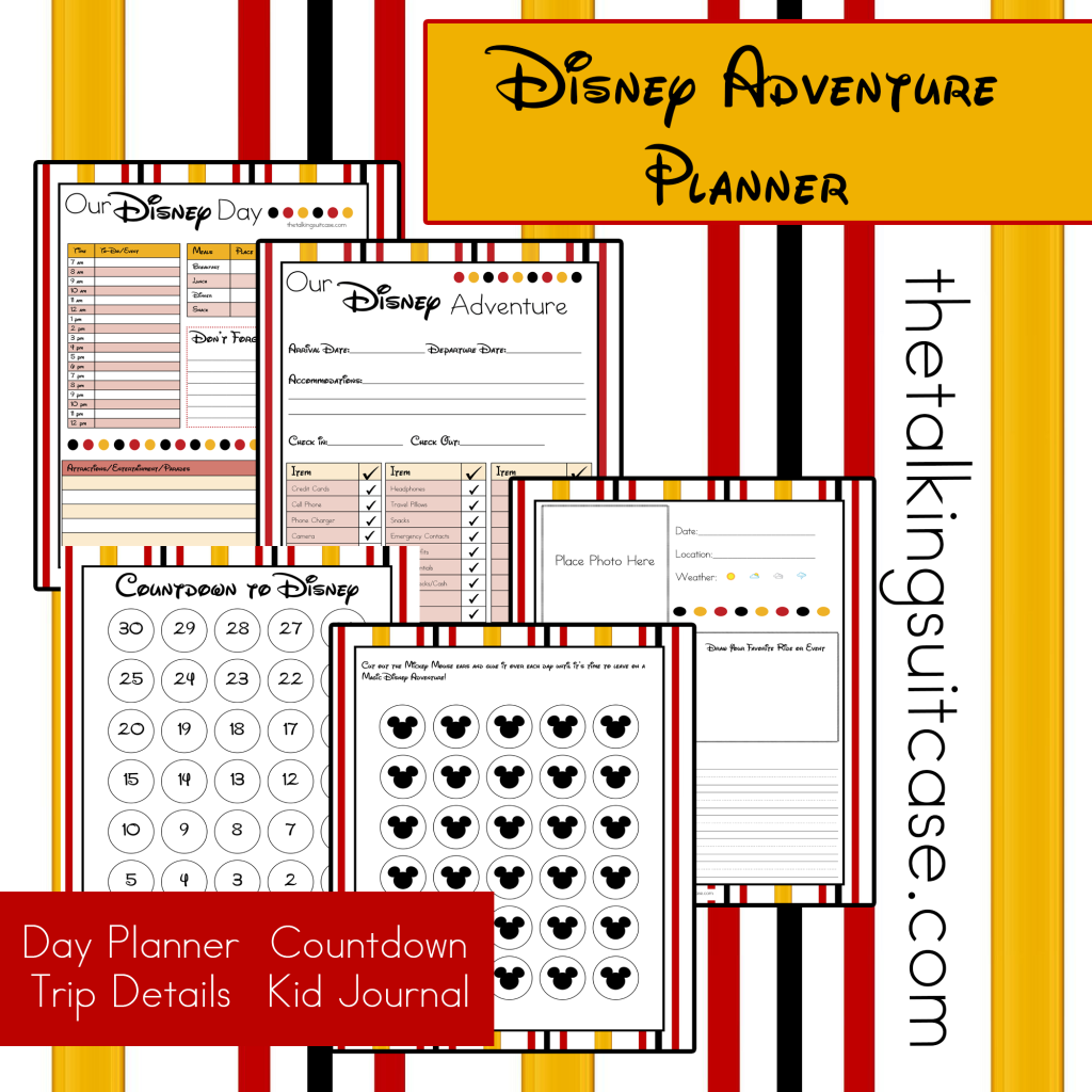 Free Printable Disney Vacation Planner  Disney planner