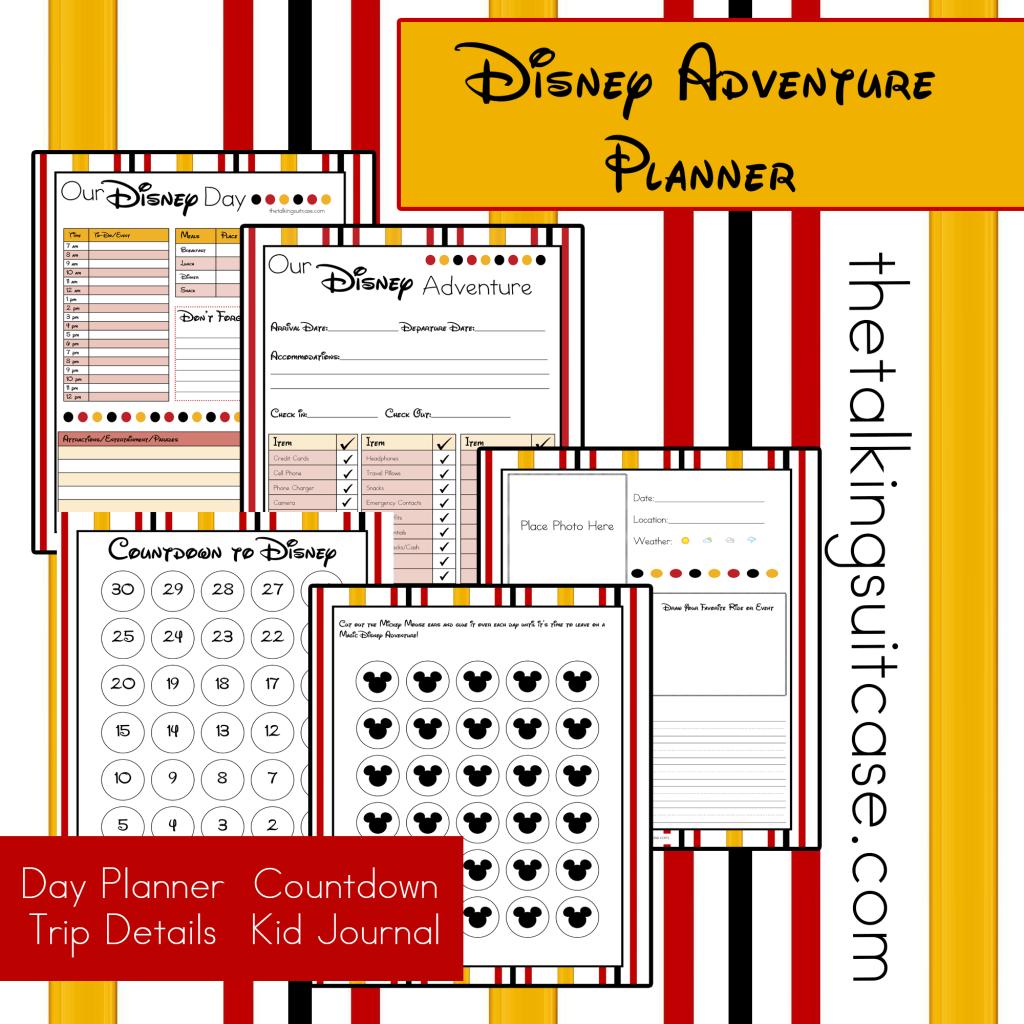 Free Printable Disney Vacation Planner  Disney planner