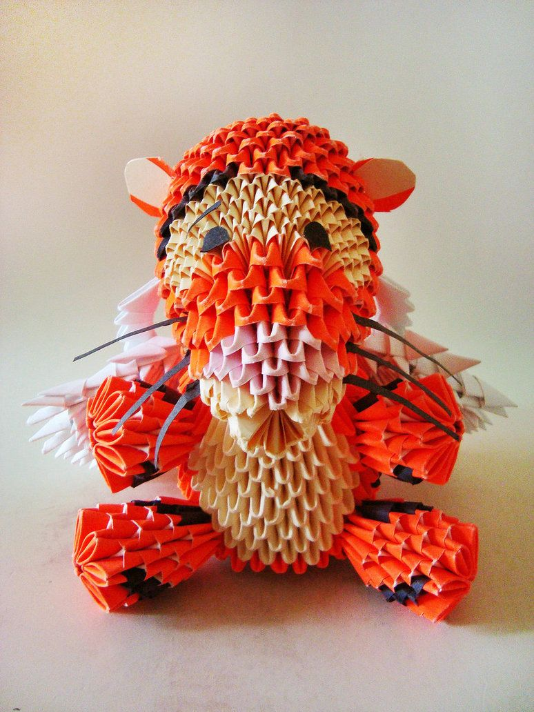 3D origami: Winged Tigger by Weezaround | Origami ... - photo#13