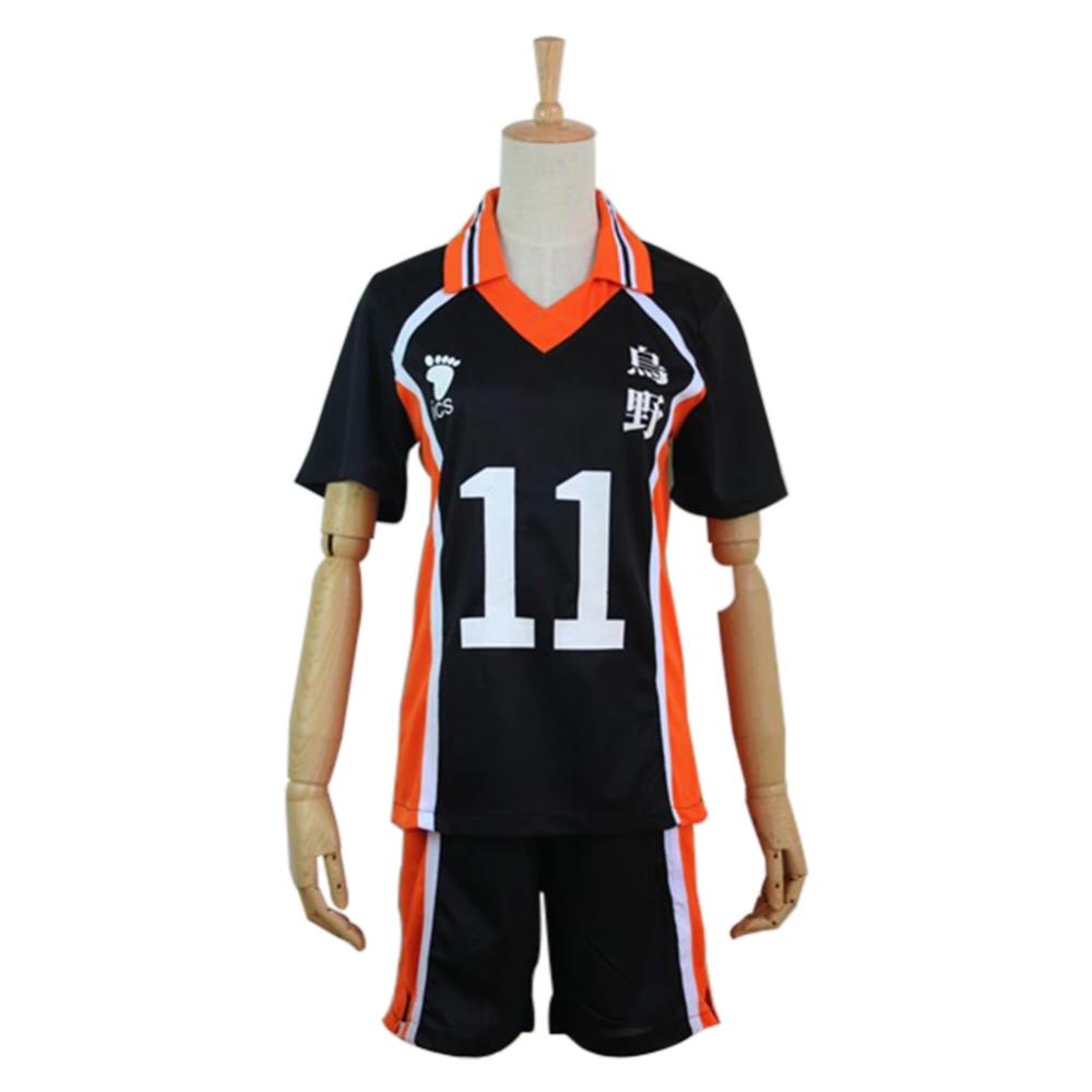 Haikyuu Cosplay Costume Karasuno High School Volleyball Club Tsukishima Kei Sportswear Jerseys Uniform In 2020 Hip Shirts Haikyuu Cosplay Cosplay Costumes