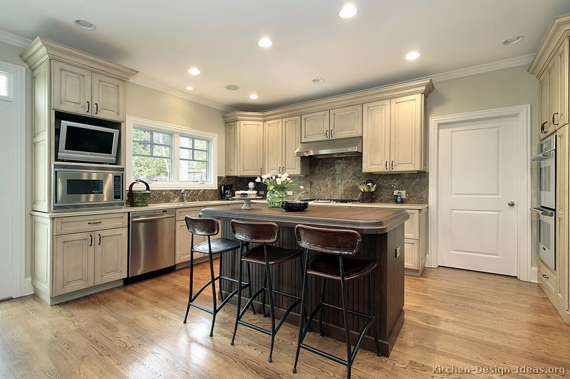 Best Pictures Of Kitchens Traditional Two Tone Kitchen 400 x 300