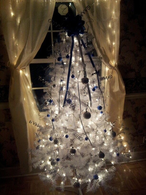 Beautiful WinterWhite Christmas tree All for $60 from Dollar - dollar general christmas decorations