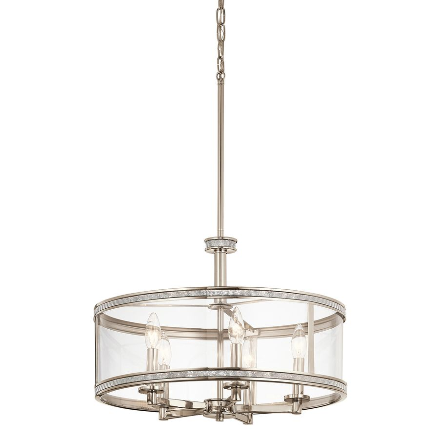 Kichler Angelica 20in Polished Nickel Industrial Single Clear