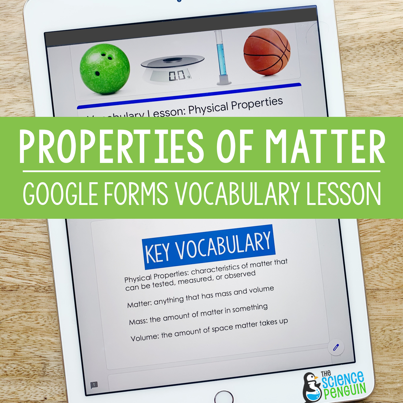 Properties Of Matter Digital Vocabulary For Forms