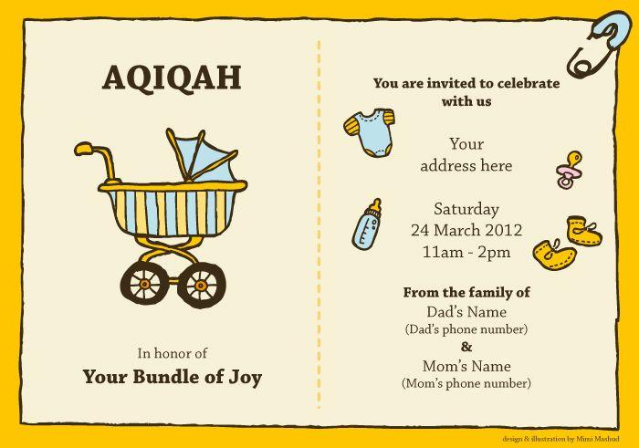 Aqiqa Invitation Card Wordings Letter Bestpoemview Co