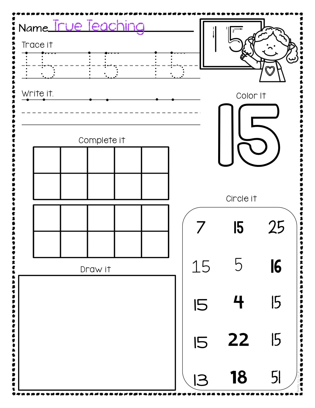 Numbers 11 20 Activity Pages Set 1