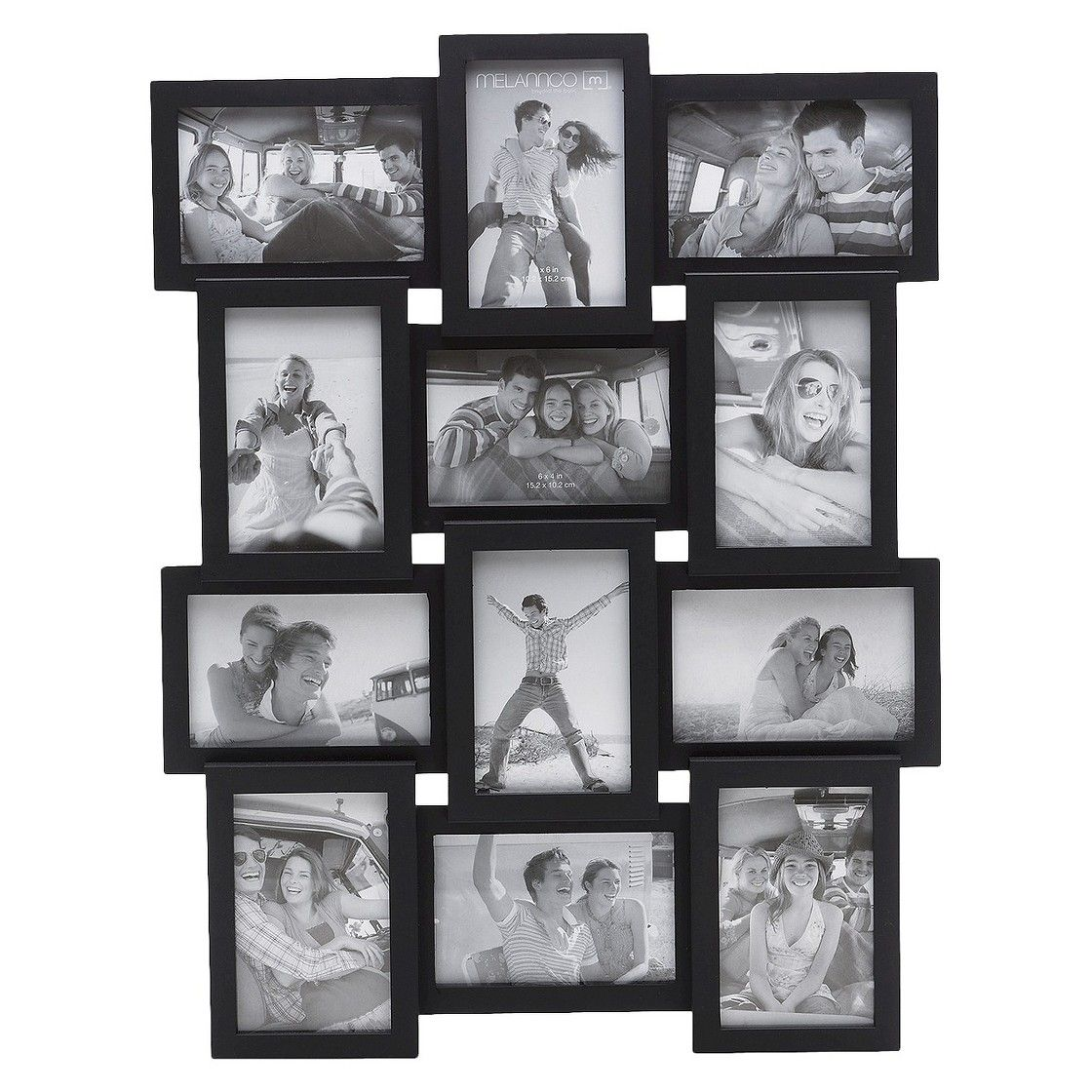 12 Opening Photo Frame Black 4x6 Framed Photo Collage Collage Picture Frames Picture Collage