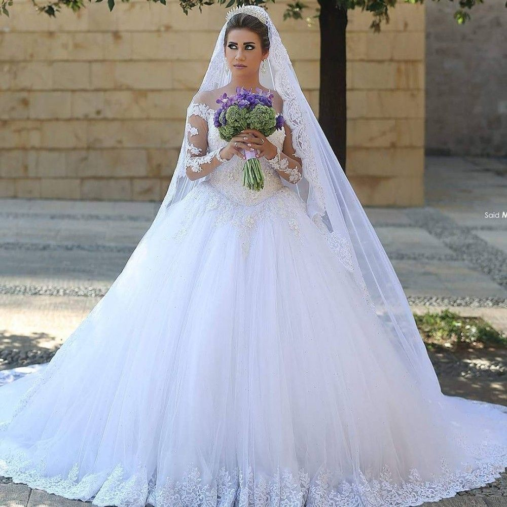 Free shipping buy best oneck long sleeve a line wedding dresses