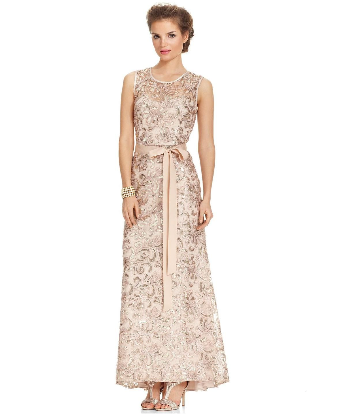 Betsy & Adam Petite Sleeveless Sequined Gown http://picvpic.com ...