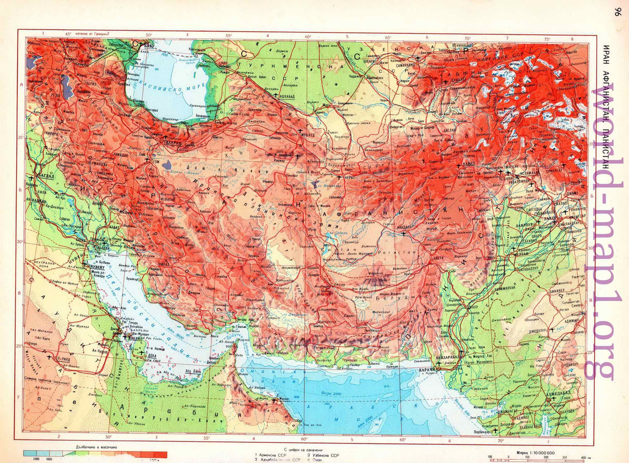 Physical Map of iran maps Pinterest Iran
