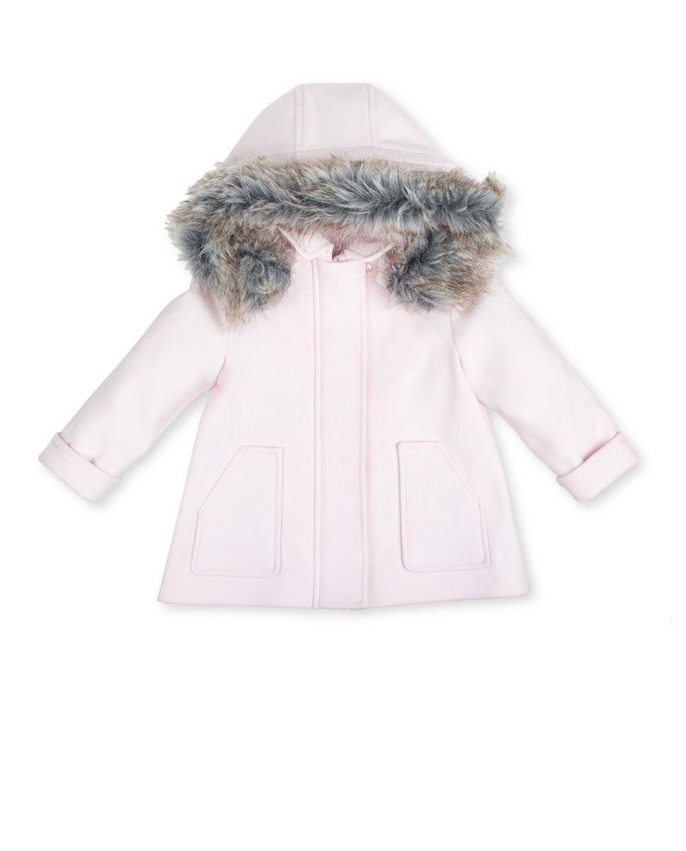 0f9f5e13e77 Abrigo de bebé niña Tutto Piccolo de paño con capucha   For my baby ...