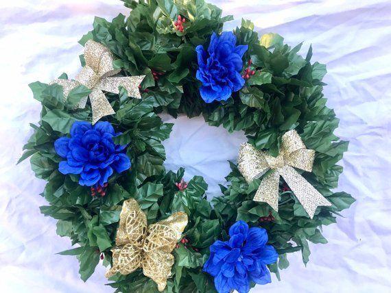 Door wreath, Handmade year around door decor wreath #doubledoorwreaths