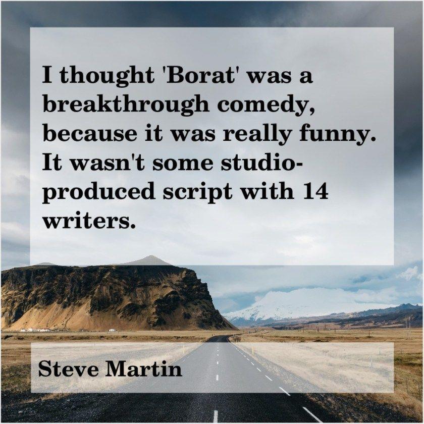 Steve Martin I Thought Borat Was A Brooke Burke Ron Livingston Jackie Gleason