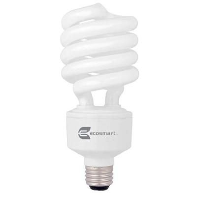 Ecosmart 150w Equivalent Soft White Spiral 3 Way Cfl Light Bulb Esb9032 The Home Depot Light Bulb 3 Way Light Bulb Fluorescent Light Bulb