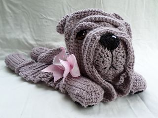 Shar pei lovey blanket crochet pattern (not free)