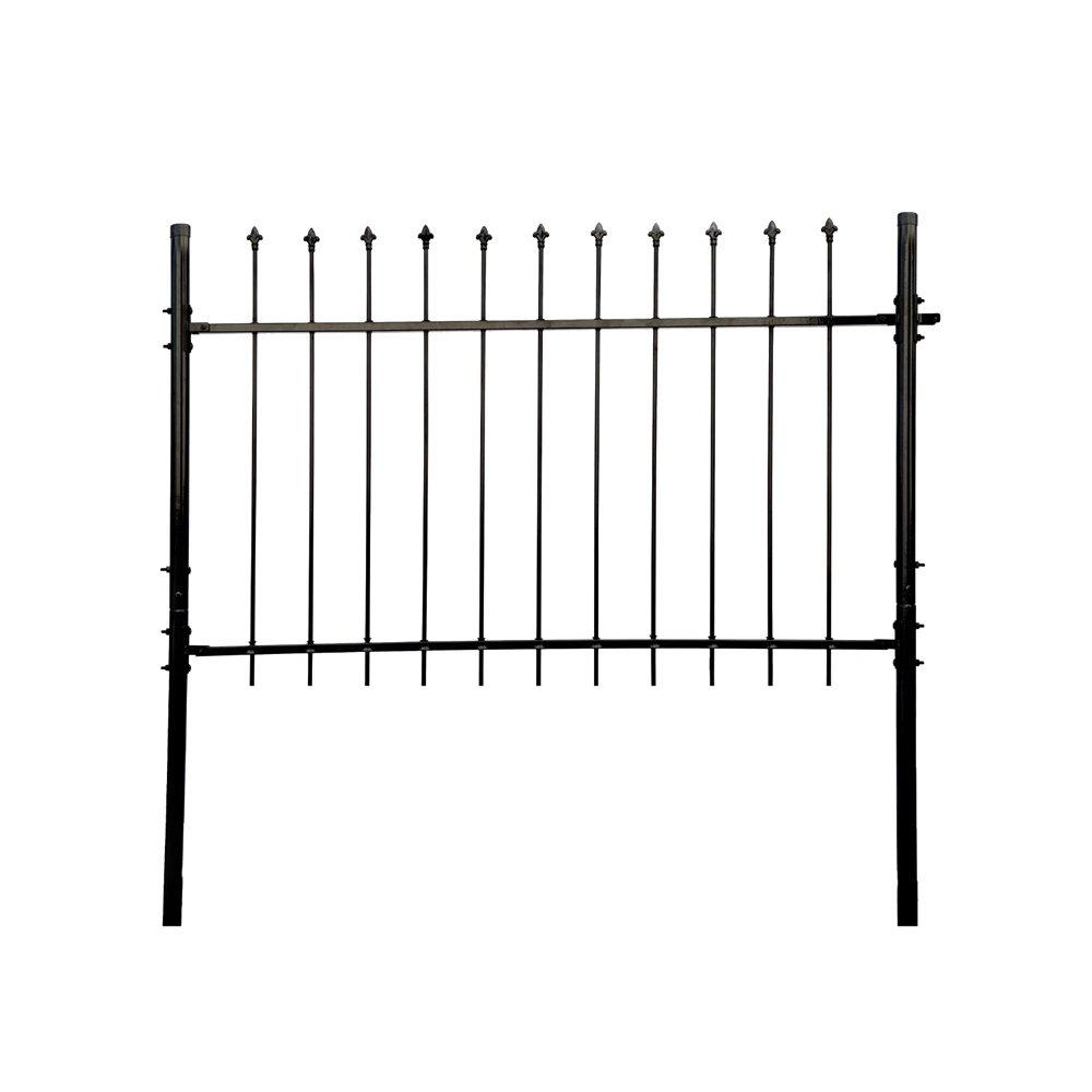 Aleko athens style diy steel fence panel kit 5 x 5 feet