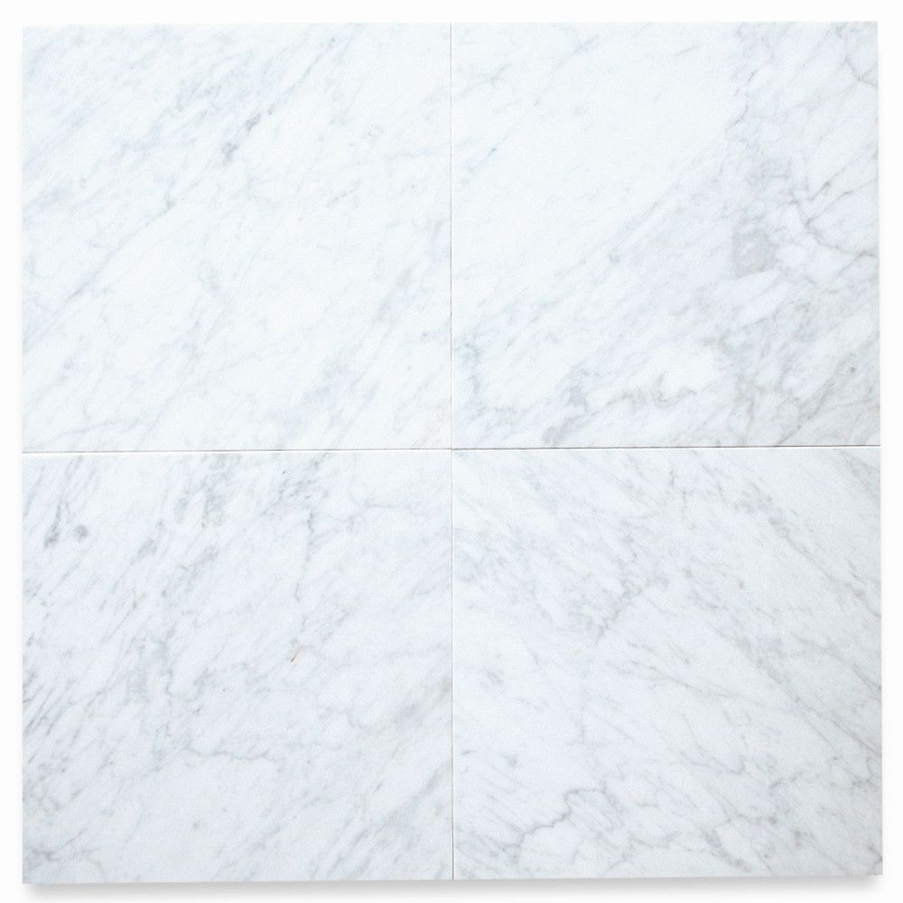 Carrara White Marble 12x12 Tile Honed Carrara White Marble Marble