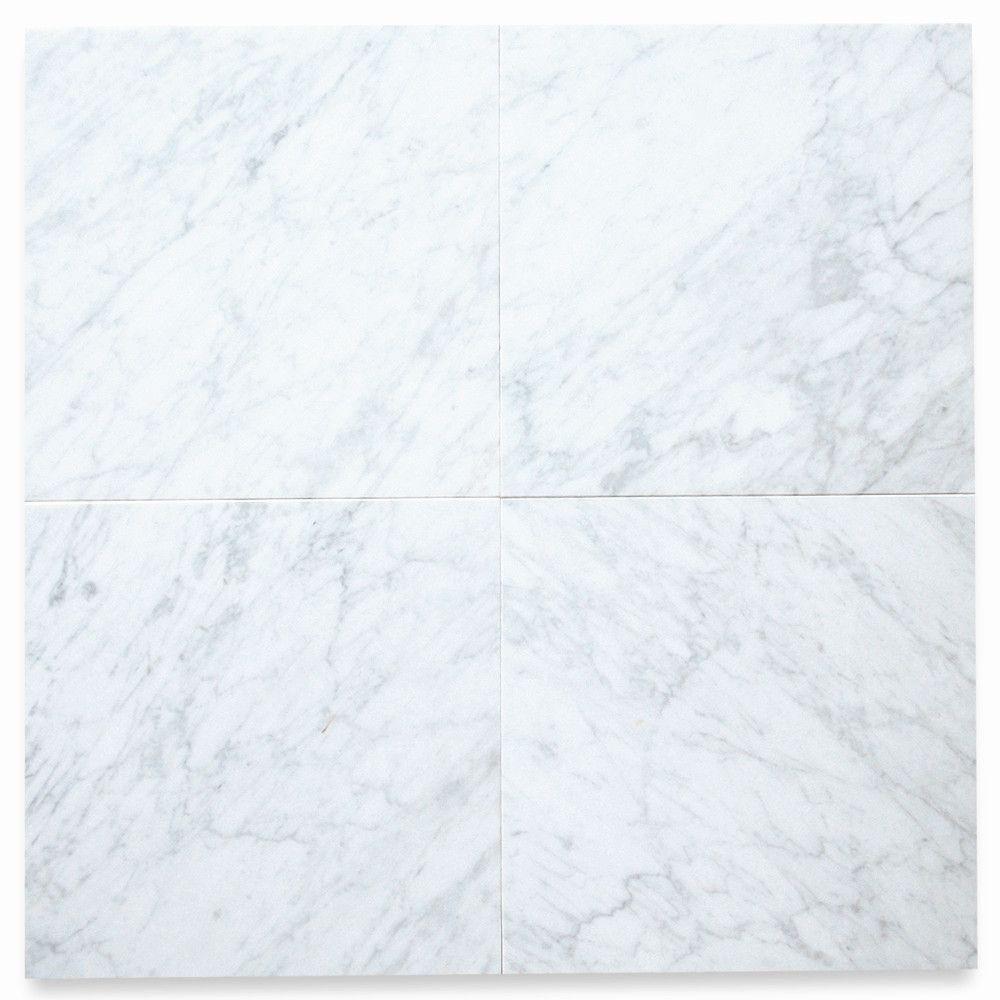 Carrara White Marble 12x12 Tile Honed Carrara White Marble Marble