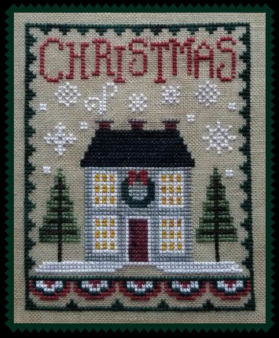 CHRISTMAS HOUSE TRIO; Digital Pattern for Cross Stitch; Instant Downloadable Pdf File; Festive Folk-Art Houses All Decorated for Christmas #newhouseoptions
