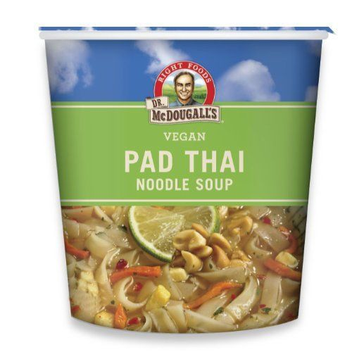 Dr. McDougall's Right Foods Vegan Pad Thai Noodle Soup Fresh Flavor 2-Ounce Cups