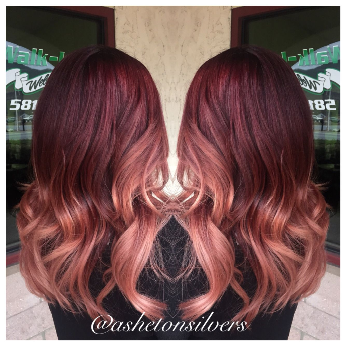 Red And Rose Gold Ombre By Asheton Silvers Hair Ideas Pinterest