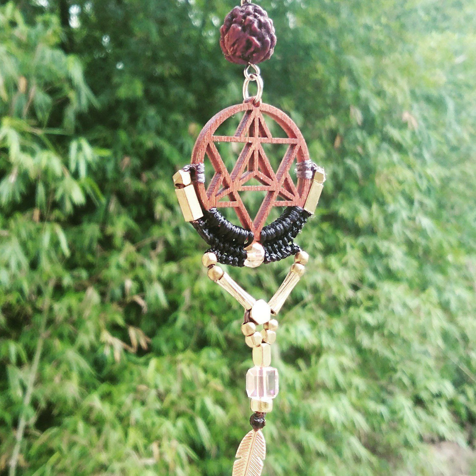 Merkaba Star Earrings Star tetrahedron earrings Sacred