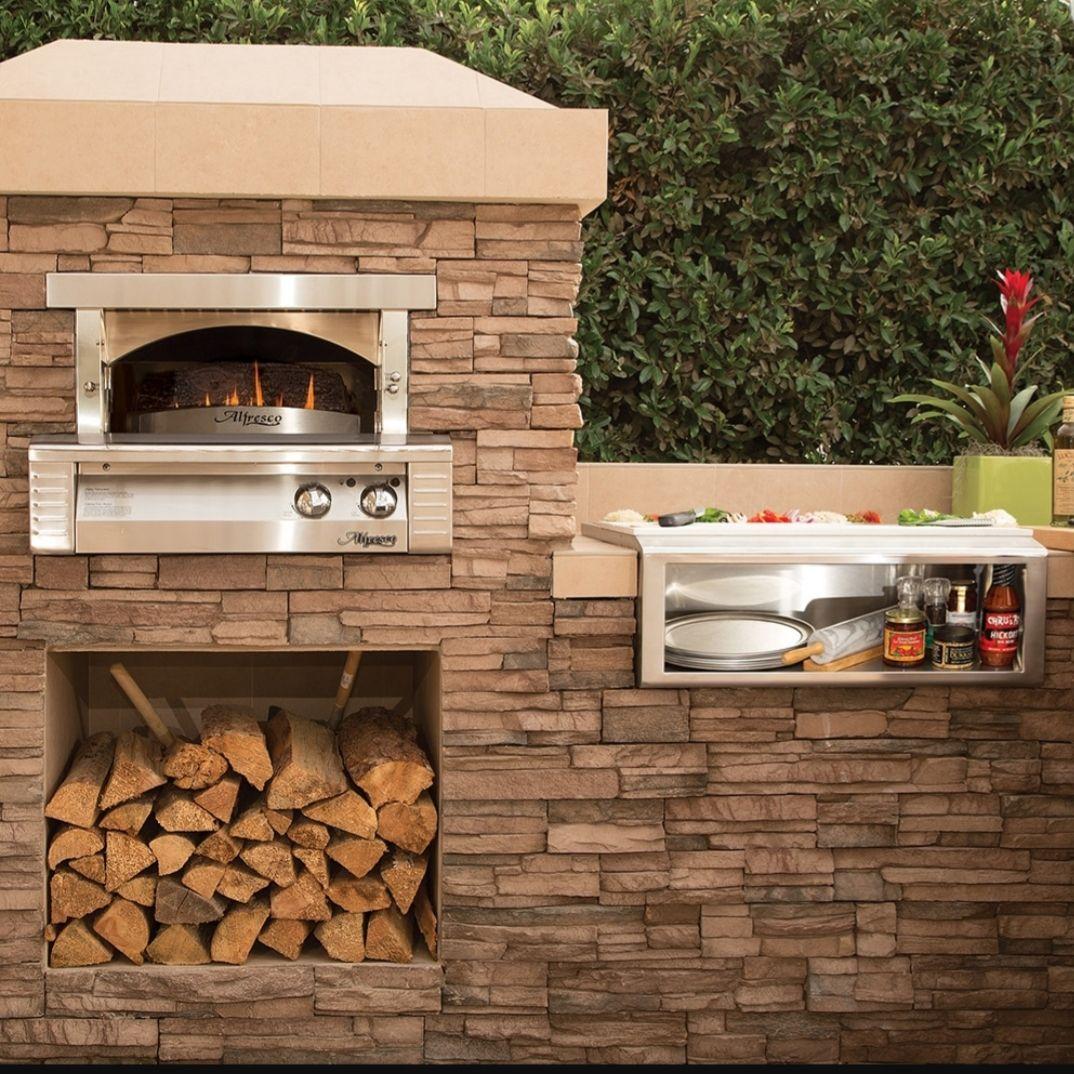 Alfresco 30 Inch Pizza Oven Built In Axe Pza Bi Pizza Oven Outdoor Kitchen Outdoor Kitchen Appliances Pizza Oven Outdoor