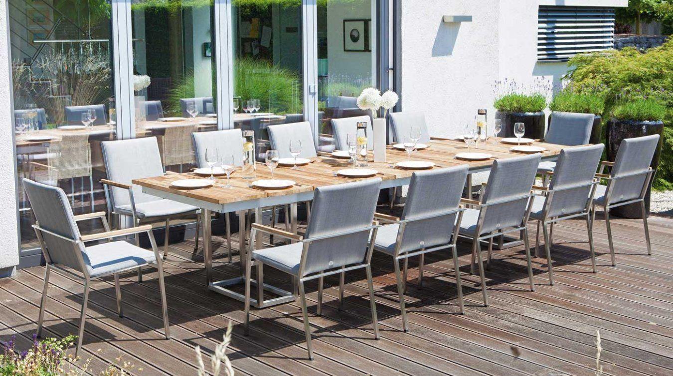 12 Personen Gartentisch Terrassen Tische Ausziehbarer