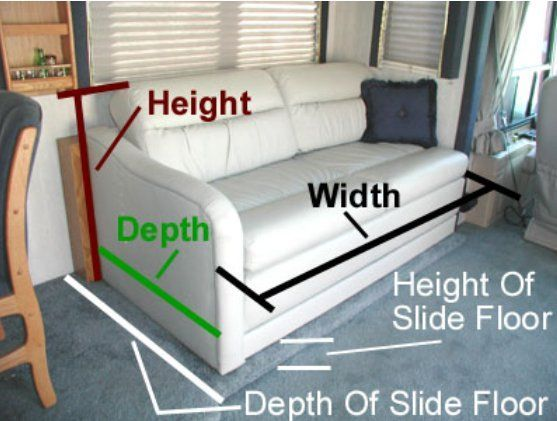replace original camper sofa with a sofa bed from ikea rv stuff rh pinterest com