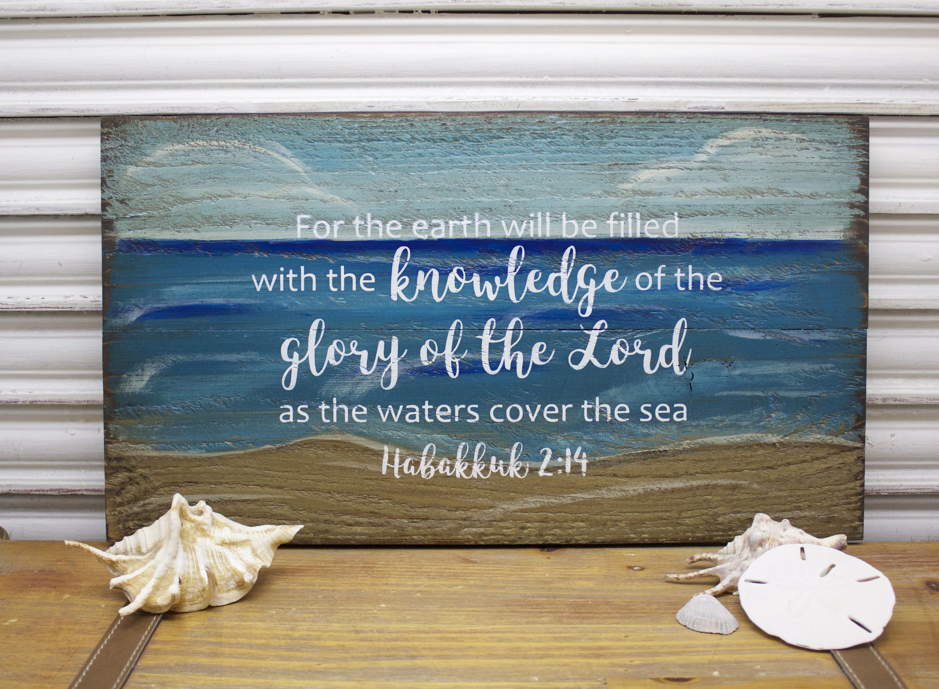 Scripture Wall Art Bible Verse Wall Art Beach Sign Wood Sign Wooden Sign Rustic Distressed Beach Decor Christ Beach Decor Scripture Wall Art Beach Signs
