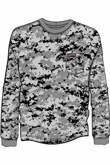 5af95833a1af Cinch Jeans  FR (Flame-Resistant) line offers this soft pullover shirt with  a modern-looking camo design that s got great edge. This cotton knit shirt  has ...