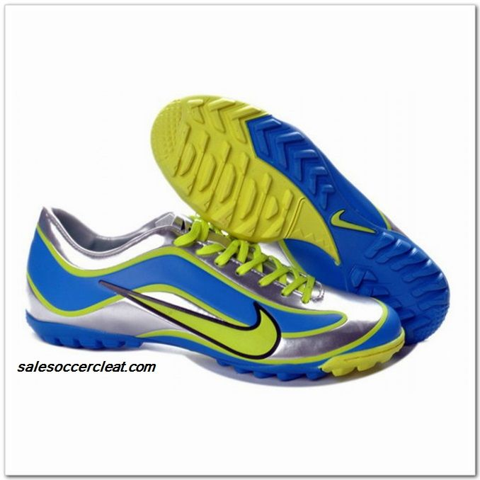 Nike Mercurial Vapor XV Limited Edition 1998 TF Limited Edition 1998  Mercurial 2013 For Cheap Silver Blue Green Soccer Cleats