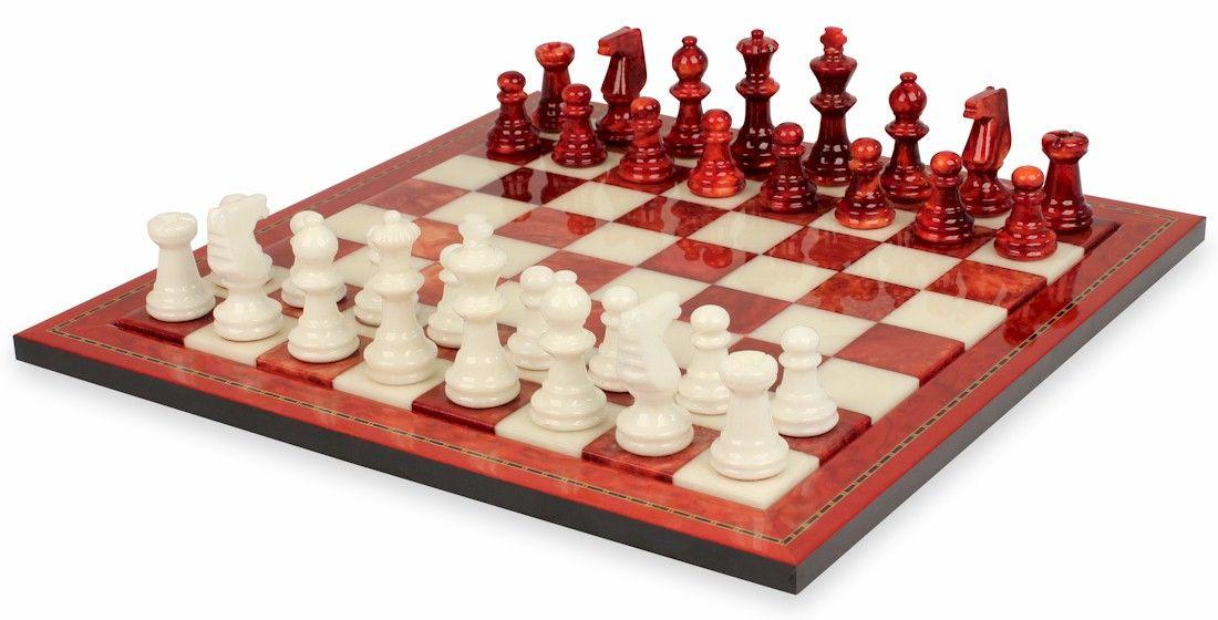 Tavolo Scacchiera ~ Chess. chiellini agata & red alabaster chess set and alabaster