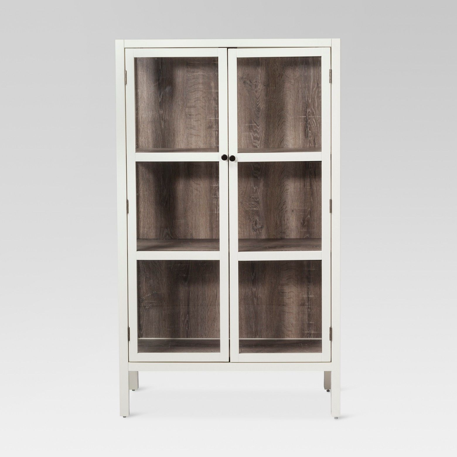 The Vista Library Cabinet With Glass From Threshold Combines The
