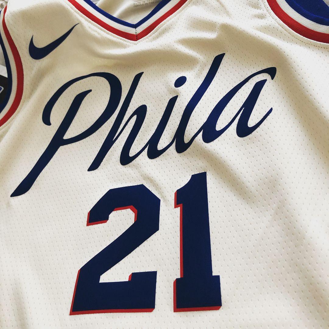 Philadelphia 76ers Nike City Swingman 17 18 Joel Embiid 21 Nikexnba Nbajersey Swingman Sixers 76ers Nba Philadelph Philadelphia 76ers Nba Jersey 76ers