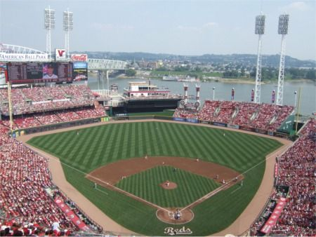 Great American Ball Park Cincinnati Reds Stadium Ballparks Of Baseball Cincinnati Cincinnati Reds Cincinnati Reds Game