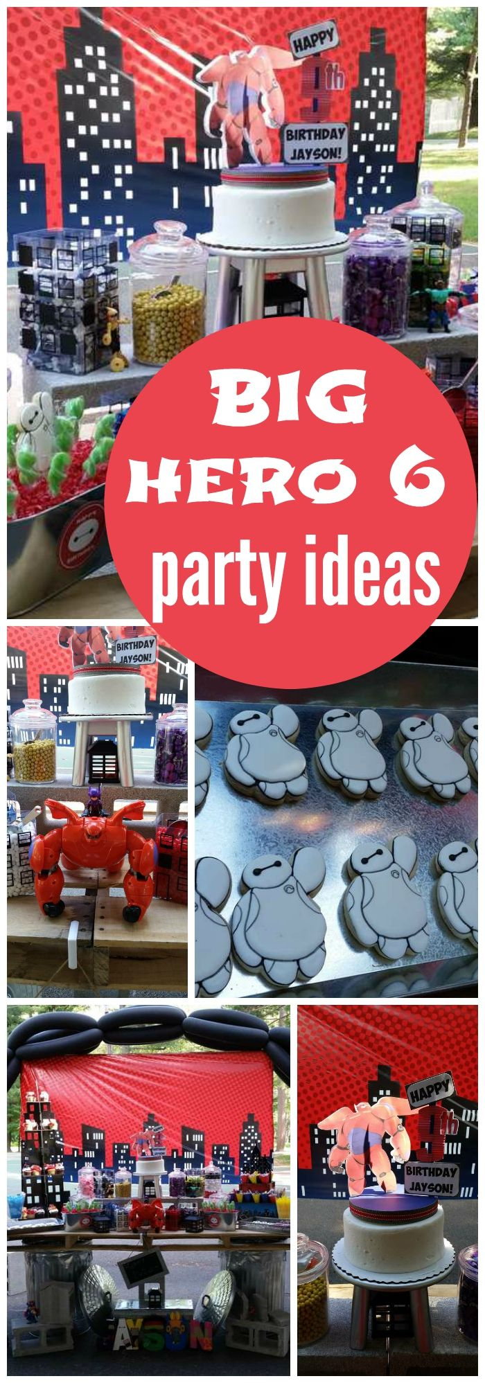 What a fun Big Hero 6 birthday party! See more party ideas at CatchMyParty.com!