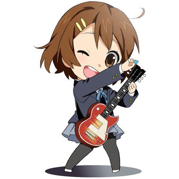 Chibi Guitar Hirasawa Yui Instrument K On Mattaku Mosuke Pantyhose Liked Polyvore