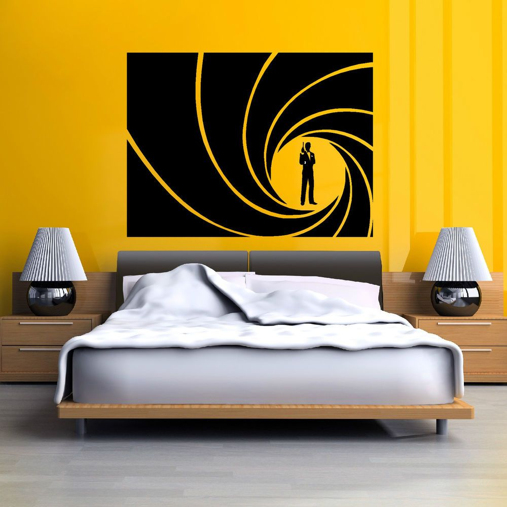 JAMES BOND GOLDEN GUN Vinyl Wall Art Sticker Decal In Home - Vinyl wall decals home party