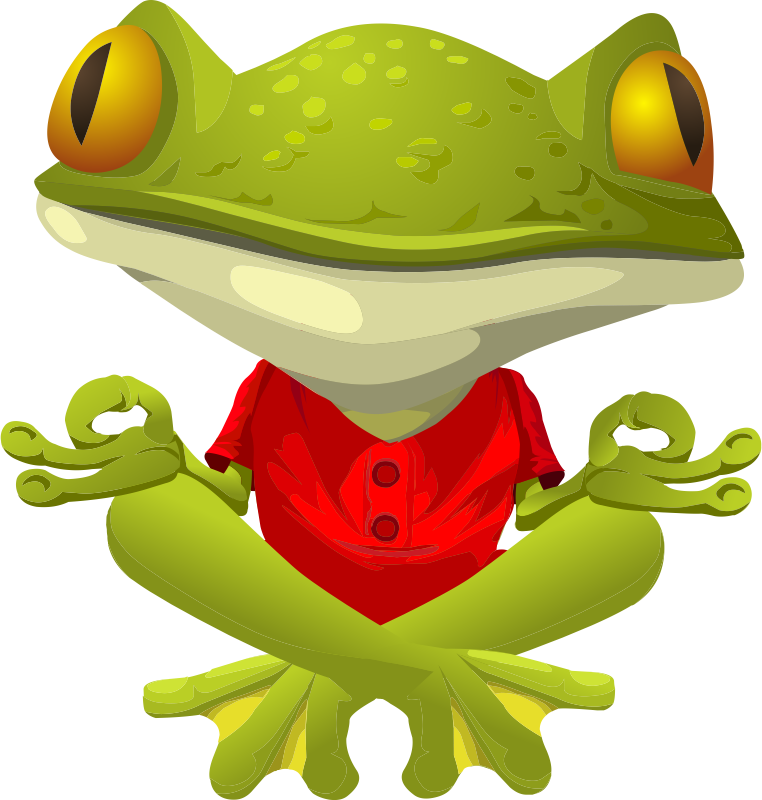 Cute Frog Graphics | Free Frog Practicing Yoga Clip Art ...