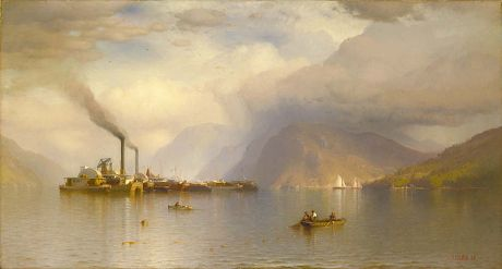 Storm King on the Hudson by Samuel Colman / American Art, 1866. Oil on Canvas. 32-1/8 x 59-7/8 in.