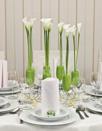 Tischdekoration Fur Die Hochzeit Uber 250 Inspirationen Dekoration Tischdekoration Brautstrauss Calla