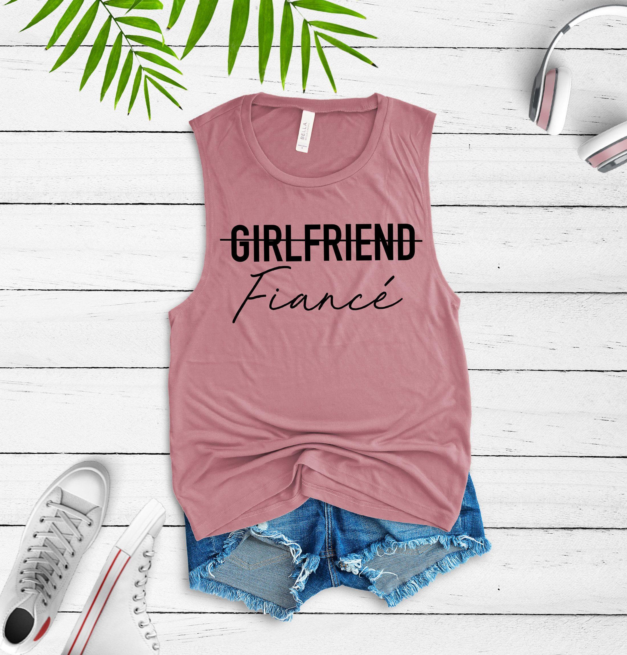 5afd416e girlfriend fiance shirt - fiance shirt - girlfriend fiance tee - engaged  shirt - engagement gift - announcement shirt - newly engaged shirt by ...